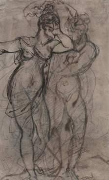 Théodore Géricault-œnone et une nymphe (recto)-Ottawa, Musée des Beaux-Arts du Canada