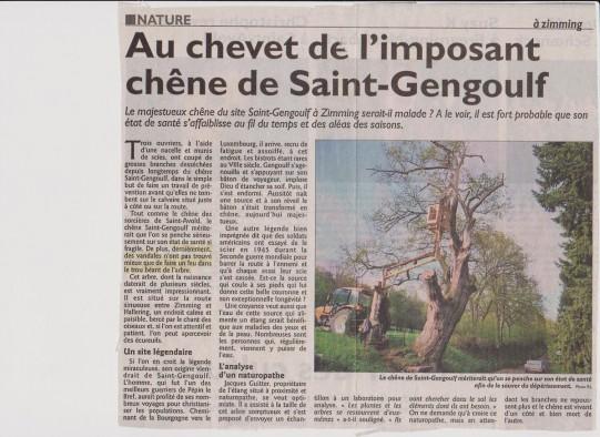 Chêne st Gengoulf presse 2010