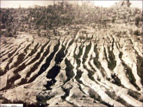 Effets de l'érosion le Lion de Balsièges en 1880