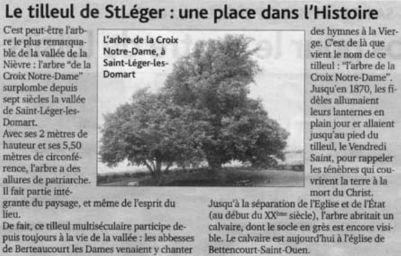 Journal d'Abbeville du 6 avril 2005 - L'Arbre de la Croix