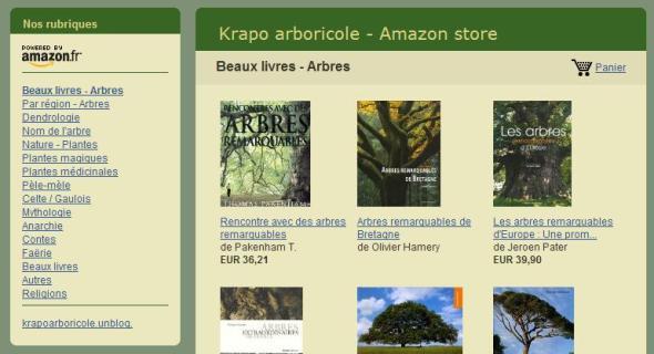 Krapo arboricole - Amazon store