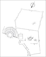 Plan du site de Dodone © K. Kapaioannou dans l'Art Grec - collection l'art et les grandes civilisations
