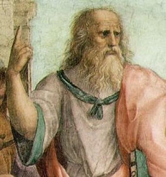 Platon par Raphaël, dans la peinture L'École d'Athènes