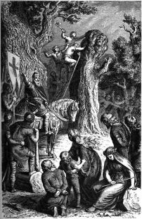 La destruction de l'Irminsul par Charlemagne par Heinrich Leutemann.1882