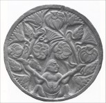 Plant de lotus et plantes médicinales naissant du nombril d'un homme - Musée Calcutta, IIè siècle av. JC