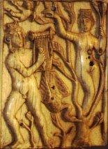 Apollon et Daphné, ivoire, Ve-VIe siècle, Museo Nazionale, Ravenne