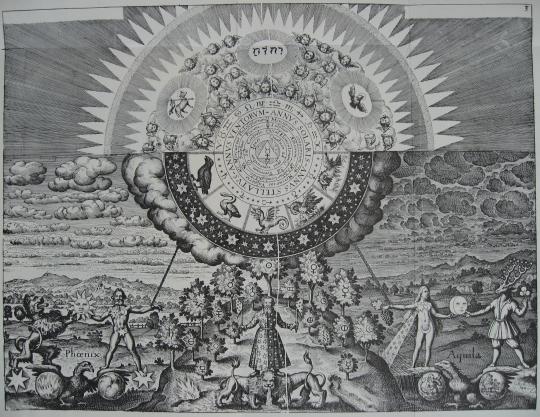 Gravure faite par Matthäus Merian pour Médico-Opus Chymicum