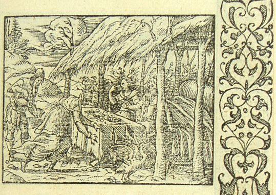 Jupiter chez Philémon (Métamorphose Lyon 1557) - Bernard Salomon