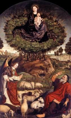 Le buisson ardent Nicolas Froment 1476 - bois Cathédrale Saint Sauveur Aix en Provence