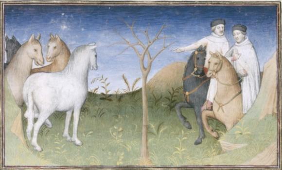Les freres Polo devant l'arbre sec - BNF manuscrit 2810