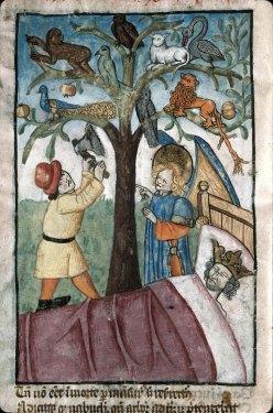 Songe de Nabuchodonosor / 1450-1500 Miroir du salut humain Provence - (Marseille, B.m., ms 0089, f. 024v, 89)