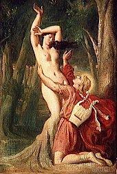 Théodore Chasseriau (1819-1856), Apollon et Daphné,