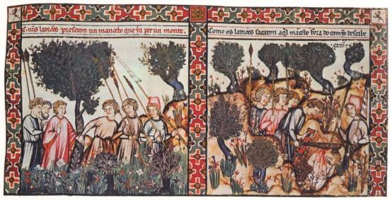 Un assassinat en forêt - Cantigas de Santa Maria - XIIè siècle