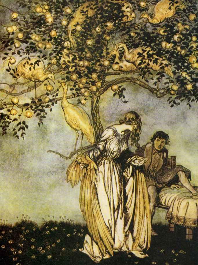 Le pommier d or et les neuf paonnes krapo arboricole - L arbre le pommier ...