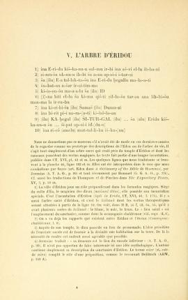 Arbre Eridou 1 - Choix de textes religieux assyro-babyloniens - E. Dhorme