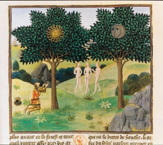 Les arbres du Soleil et de la Lune - Bruges, 1448-1449 - Jean Wauquelin  - Paris, BNF, Manuscrits, français 9342, f. 164