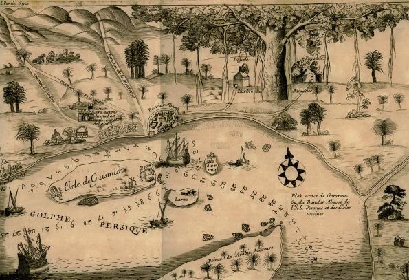 Plan_exact_de_Gomron_ou_du_Bandar_Abassi__de_l'Isle_d'Ormus_et_des_Isles_voisines_-_Tavernier_Jean_Baptiste_-_1677