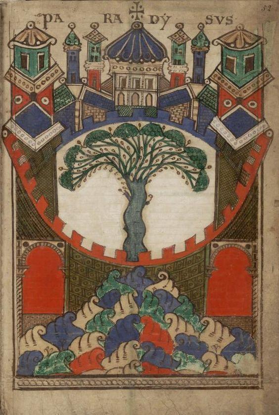 Liber Floridus folio 52 Paradysus