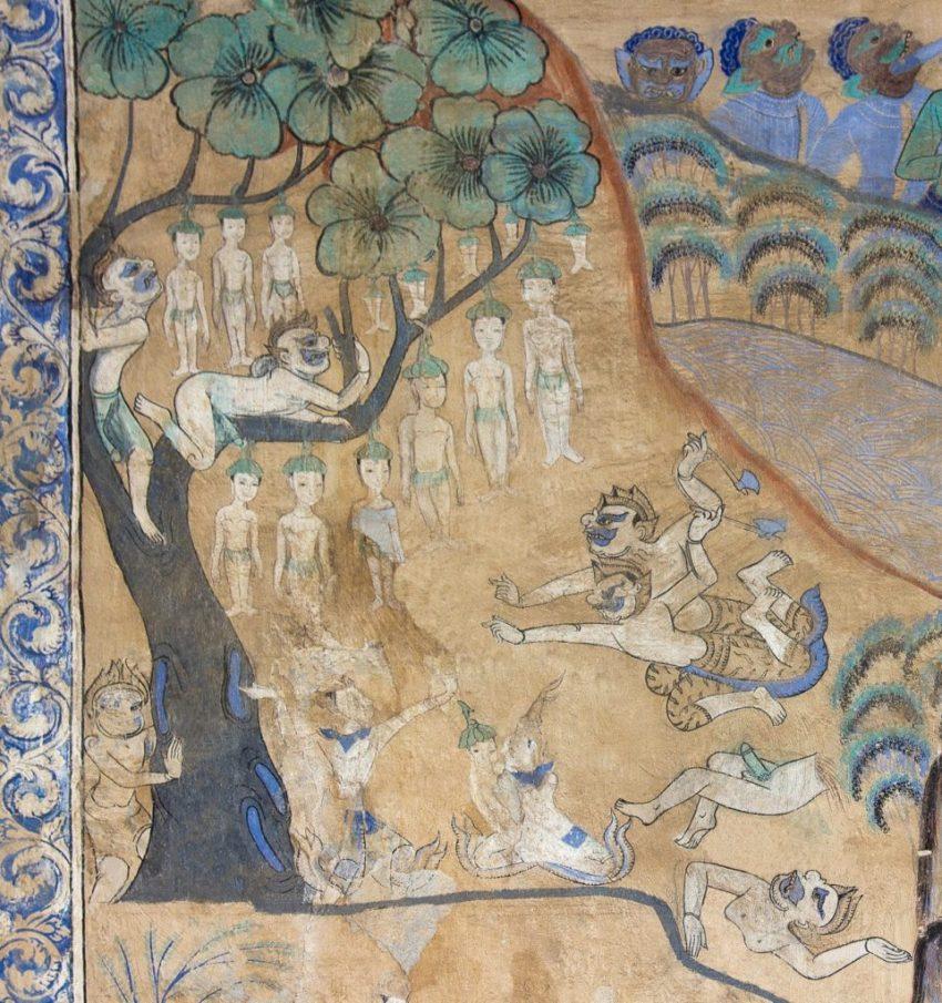Nariphon - Wat Photaram murals