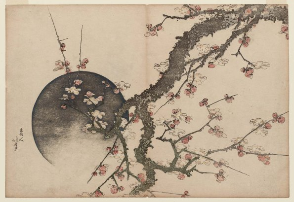 Plum Blossoms and Moon Hokusai