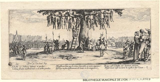 La pendaison - 1633 Jacques Callot