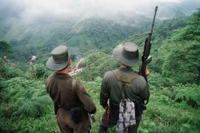 FARC militants in Colombia PEDRO UGARTE-AFP-Getty