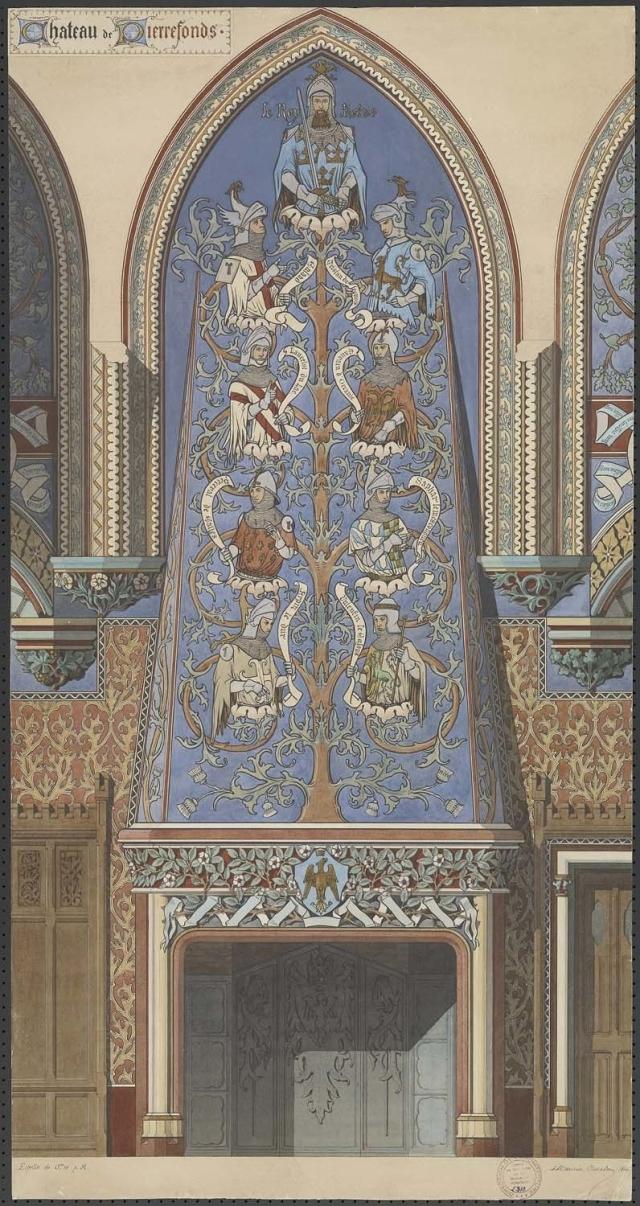 Chateau Pierrefonds - chambre imperatrice - arbre des chevaliers